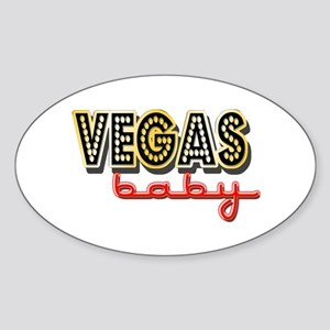 Vegas Baby Sticker (Oval)