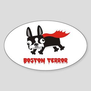 Boston Terror Oval Sticker