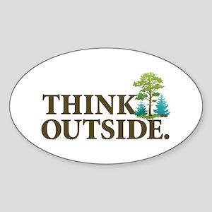 Think Outside Sticker (Oval)