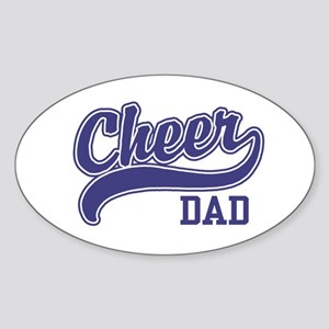 Cheer Dad Oval Sticker