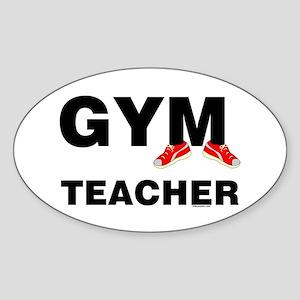 Gym Teacher Sneakers Sticker (Oval)