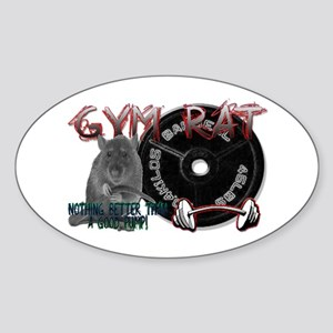 Gym rat Sticker (Oval)