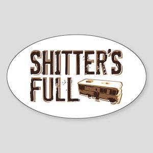 Shitter's Full Sticker (Oval)