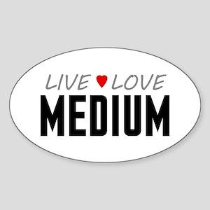 Live Love Medium Oval Sticker