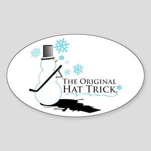original hat trick Oval Sticker