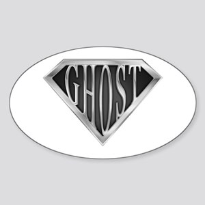 SuperGhost(metal) Oval Sticker