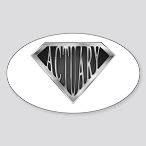 SuperActuary(metal) Oval Sticker