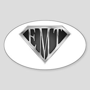 SuperEMT(METAL) Oval Sticker