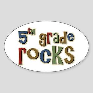 5th Grade Rocks Fifth School Oval Sticker