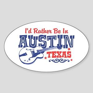 Austin Texas Sticker (Oval)