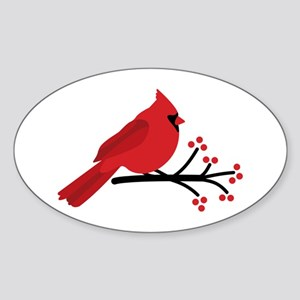 Christmas Cardinals Sticker