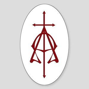 Alpha Omega Oval Sticker