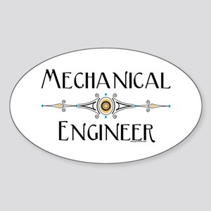 Mechanical Engineer Line Oval Sticker