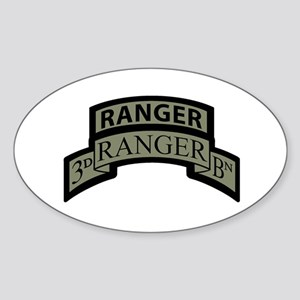 3rd Ranger Bn Scroll/Tab ACU Oval Sticker