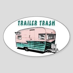Trailer Trash Sticker (Oval)