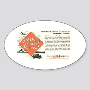 Railway Express Agency 1948 Oval Sticker