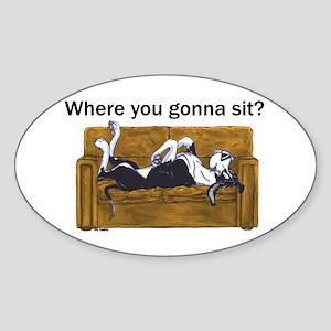 NMtl Where U Gonna Sit? Oval Sticker