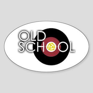 Retro 45 Oval Sticker