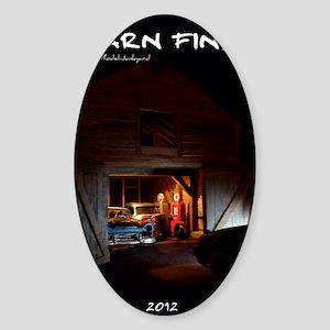 barn-find vertical calendar cafepre Sticker (Oval)