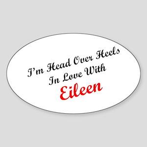 In Love with Eileen Oval Sticker