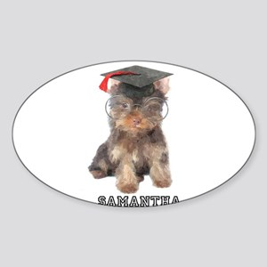Graduation Yorkshire Terrier Sticker