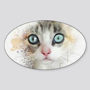Kitten Painting Sticker