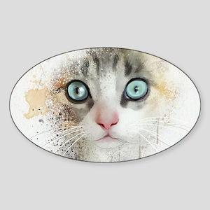 Kitten Painting Sticker