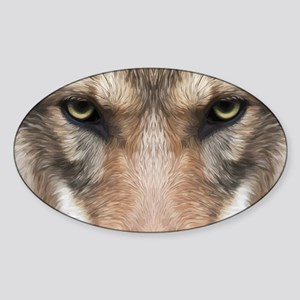 Realistic Wolf Painting Sticker