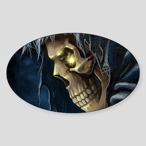 Grim Reaper Sticker (Oval)