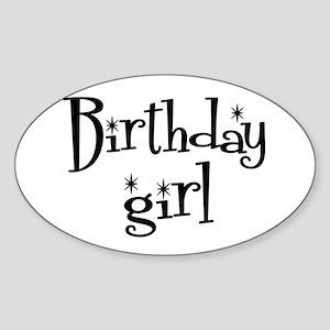 Birthday Girl Oval Sticker