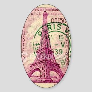 Vintage Stamp Sticker (Oval)