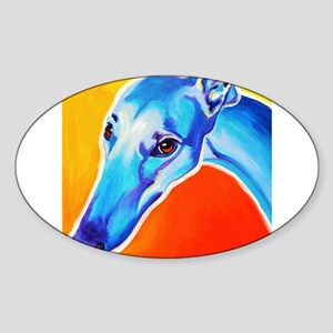 Greyhound #5 Sticker (Oval)