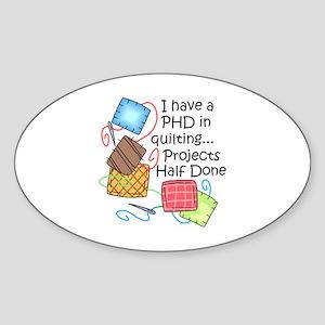 PHD IN QUILTING Sticker