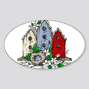 Three Birdhouses and a Nest copy Sticker