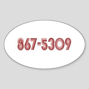 867-5309 Oval Sticker
