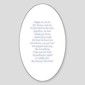 A POEM FOR NANNY Oval Sticker