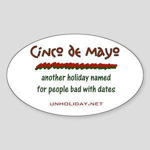 Cinco de Mayo Date Oval Sticker