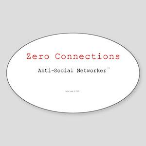ZeroConnections Oval Sticker