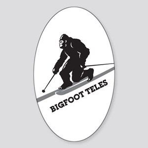 Bigfoot Teles Sticker (Oval)