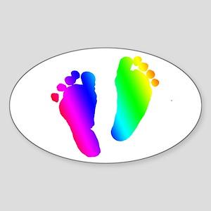 Rainbow Baby Feet Sticker