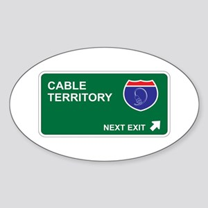 Cable Territory Oval Sticker