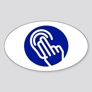 Deaf/HOH Oval Sticker
