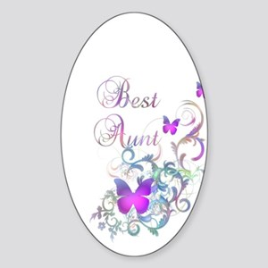 Best Aunt Sticker (Oval)