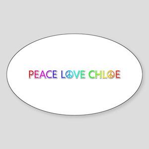 Peace Love Chloe Oval Sticker