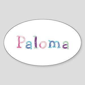 Paloma Princess Balloons Oval Sticker