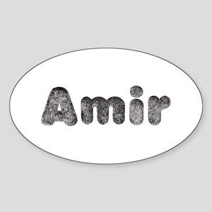 Amir Wolf Oval Sticker