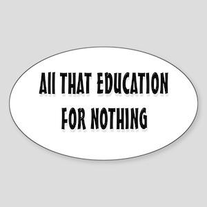 Education Oval Sticker