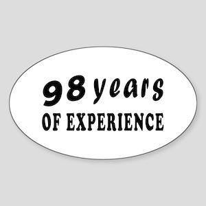 98 years birthday designs Sticker (Oval)
