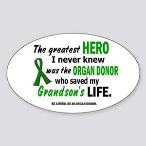 Hero I Never Knew 1 (Grandson) Oval Sticker