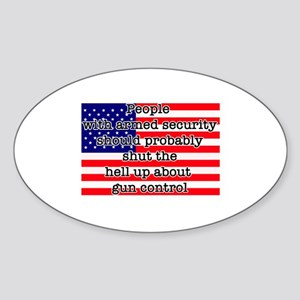 Armed security Sticker (Oval)